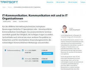 IT-Kommunikation. Kommunikation mit und in IT Organisationen